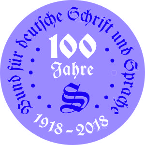 Logo - 100 Jahre BfdS